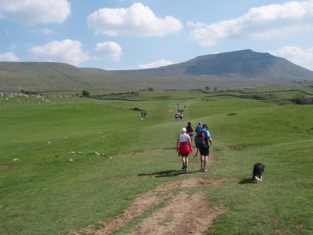 After another short break, it was off to Ingleborough ….