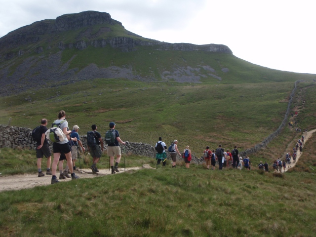 On the way to the first peak – Pen y Ghent ….
