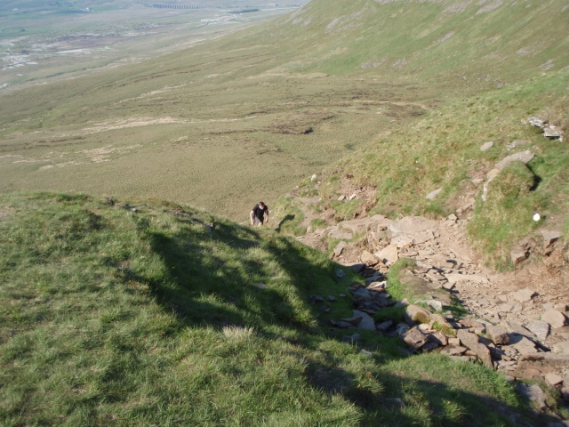 The top of the steep section ….