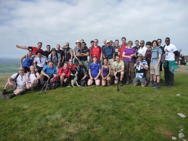 The group gathered together on the summit  (GD)