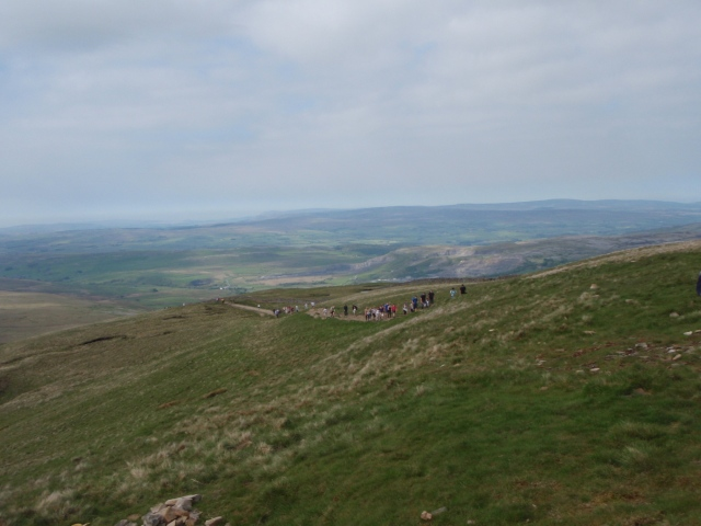 On the descent, and heading for Whernside, the next on the list