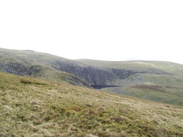 The view looking northwest towards the hills of the Carneddau