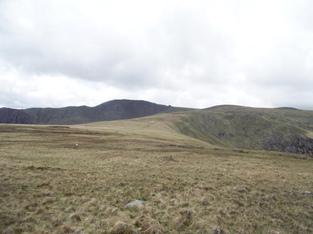 The broad ridge of the Carneddau ahead