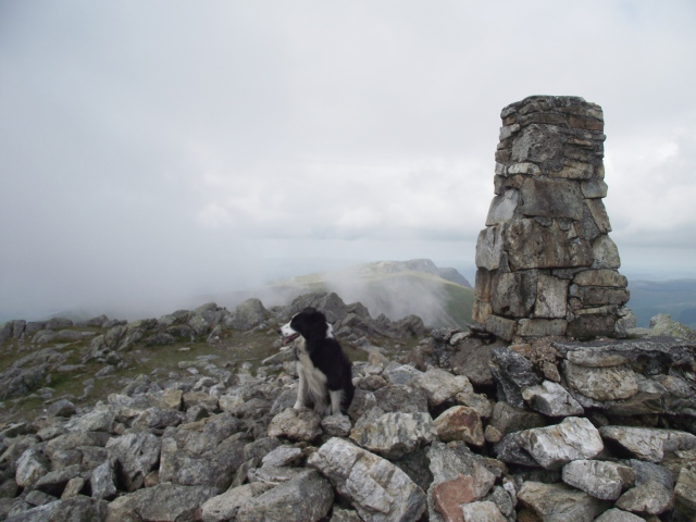 The summit trig column