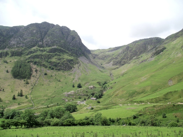 The valley above Bryn Hafod