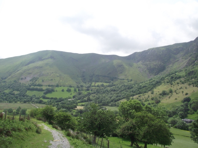 Looking back down the valley
