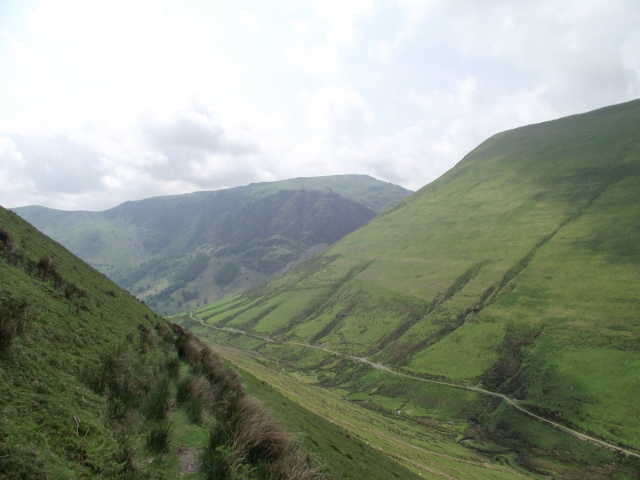 Looking back down the valley towards Craig Cywarch