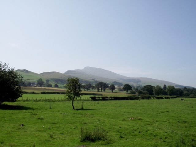 The start of the Aran Ridge from Llanuwchllyn near Llyn Tegid (Bala Lake)