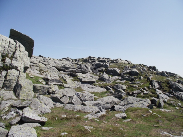 The summit rocks of Aran Fawddwy