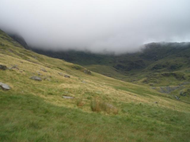 Cwm Llan – no views today then! (PS)