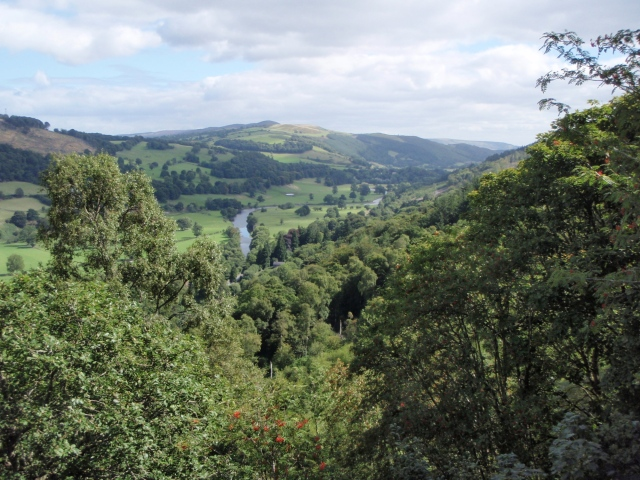 …. and a view of the Vale of Llangollen