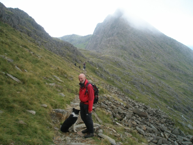 The Watkin Path below the loose, unpleasant section (PS)