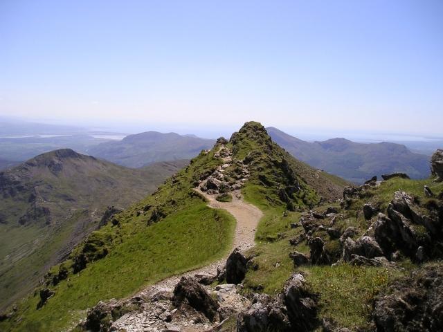 Bwlch Main on the Rhyd Ddu and South Ridge paths