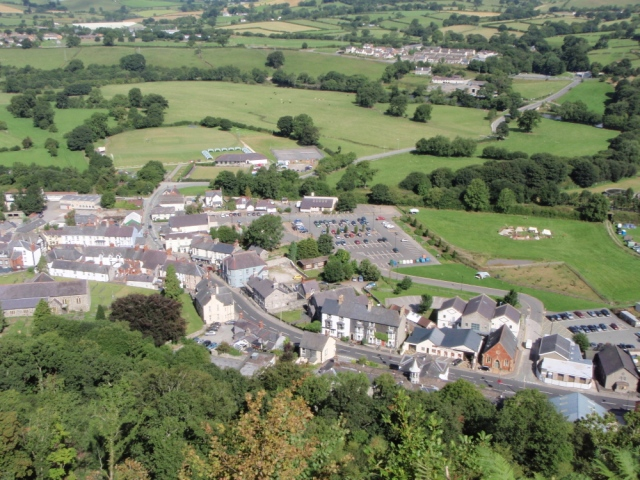 A surprise aerial view of Corwen ….