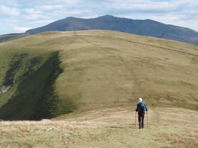 Our last summit, Foel Goch, with Yr Wyddfa beyond