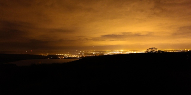 What the runners see on the training event – Rochdale by night (JB)