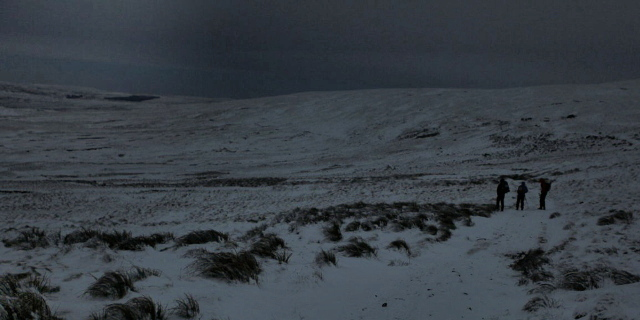 The loneliness of the Pennines in winter (JB)