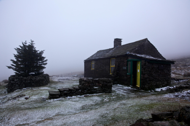 Greg's Hut in January, altitude 700 metres - outlook bleak!