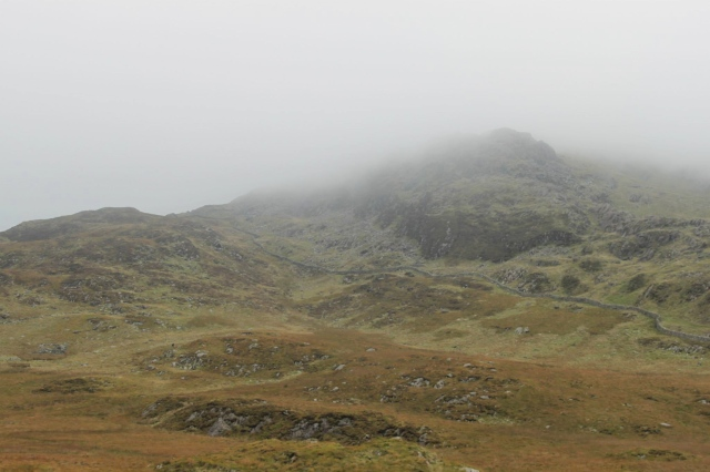 A misty day in the mountains of North Wales ….