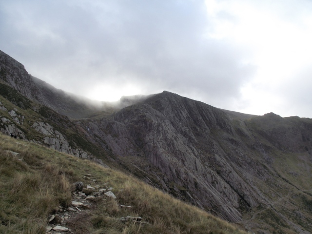 Idwal Slabs in the Ogwen Valley, with Seniors Ridge left of centre