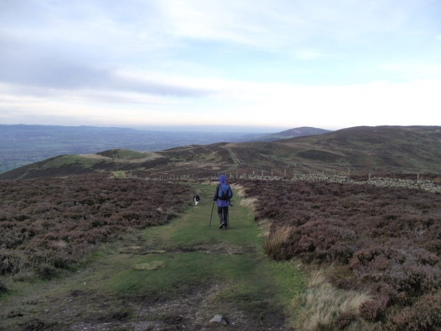 On the ridge from Moel Famau to Moel Llys y Coed