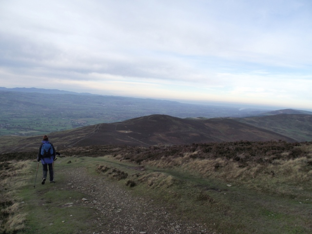Descending from Moel Famau on the Offa's Dyke Path