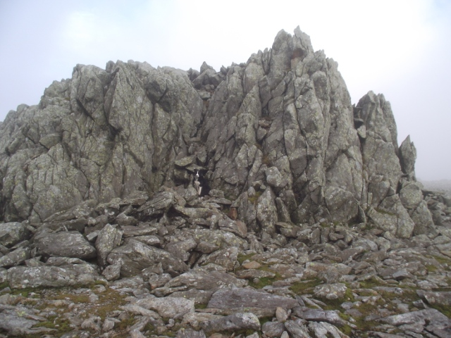 Typical rock outcrop on Glyder Fawr