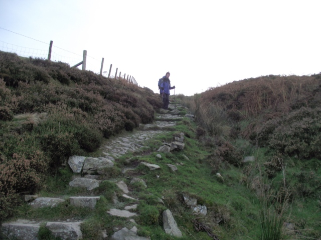 Solid stone path on the descent ….