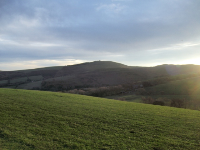 Afternoon view of Moel Famau on out way back to Cilcain