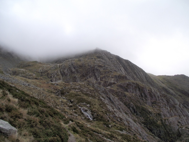 The start of Seniors Ridge in the centre of the image