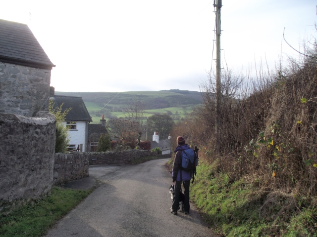 Leaving Cilcain village