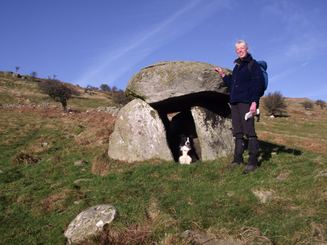 The Maen y Bardd dolmen (burial chamber), about 5000 years old.