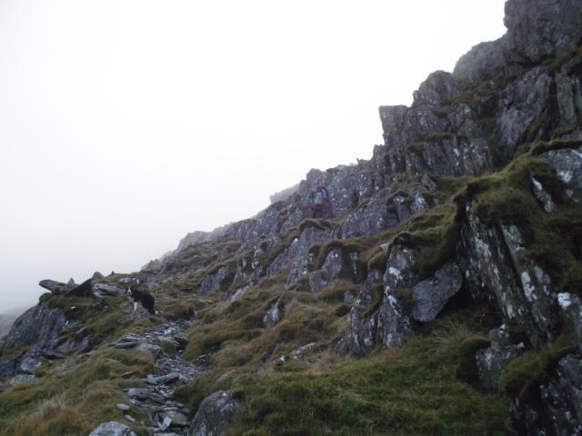 About halfway up 'Seniors Ridge'