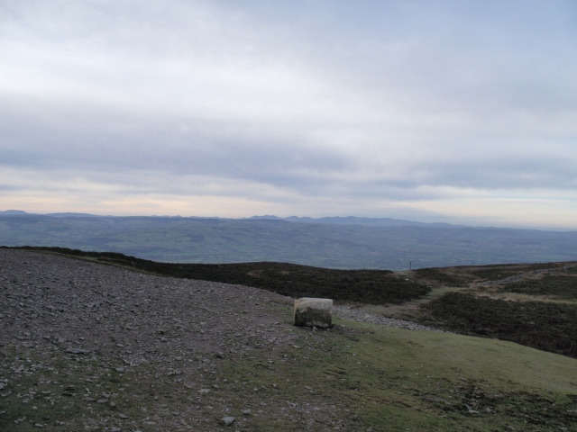 Distant views of Snowdonia ….