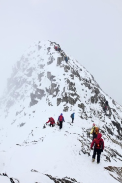 Striding Edge under snow (JB)