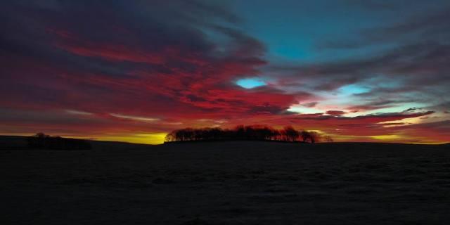 """Malham sunrise – """"Red sky at morning, sailor take warning!"""""""