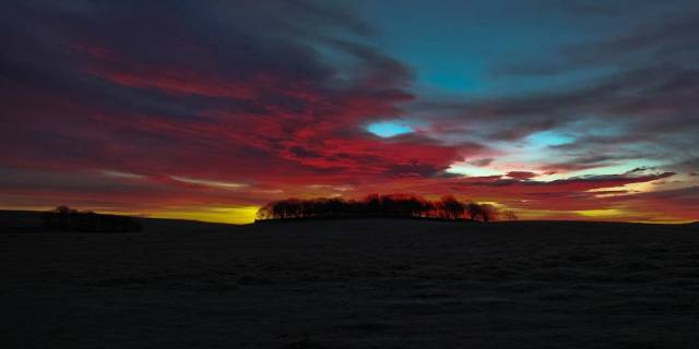 "Malham sunrise – ""Red sky at morning, sailor take warning!"""