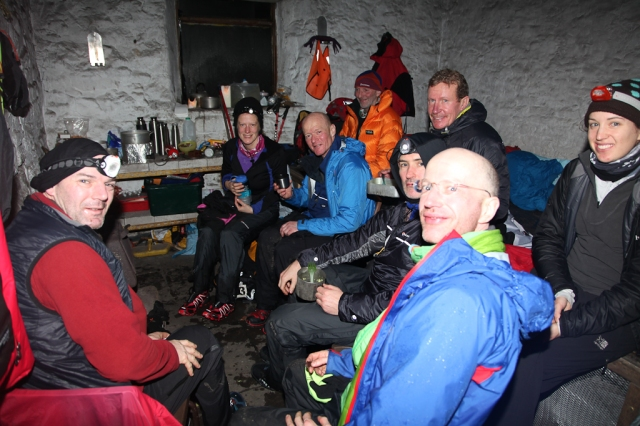 Inside Greg's Hut – a warm welcome assured