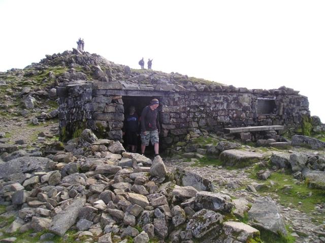 The summit shelter on Cadair Idris