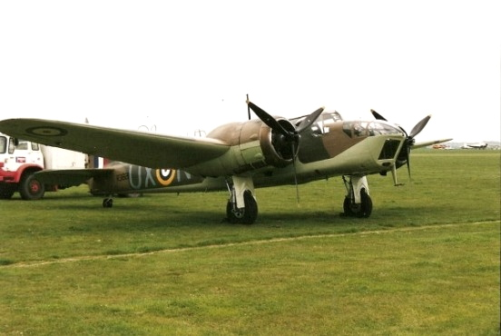 Bristol Blenheim aircraft