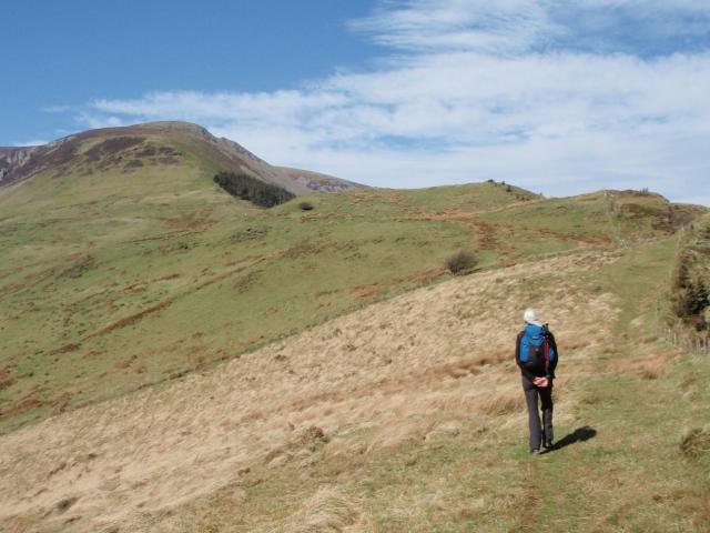 Approaching Mynydd Mawr by Foel Rudd