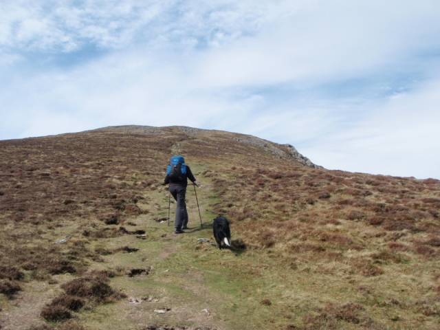 The last slope to Foel Rudd