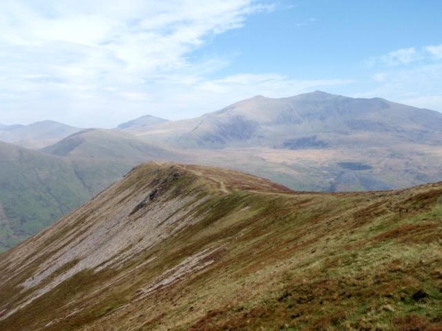 Looking back on the ridge towards Foel Rudd