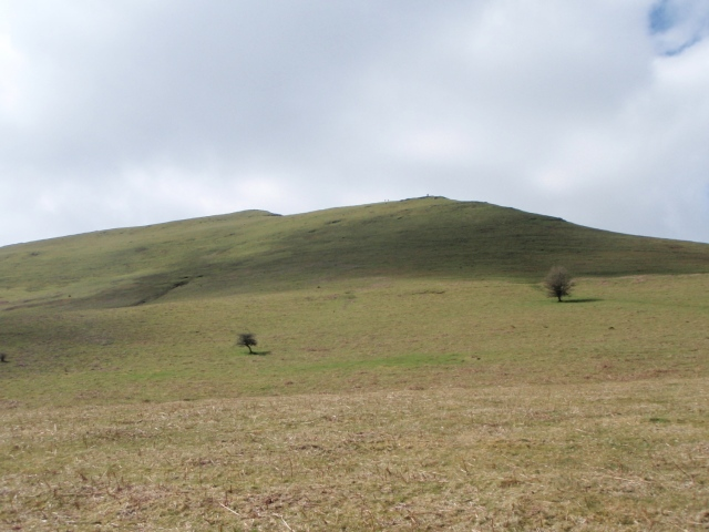 Looking up towards our summit – Mynydd Troed, looking nothing like a foot from this angle