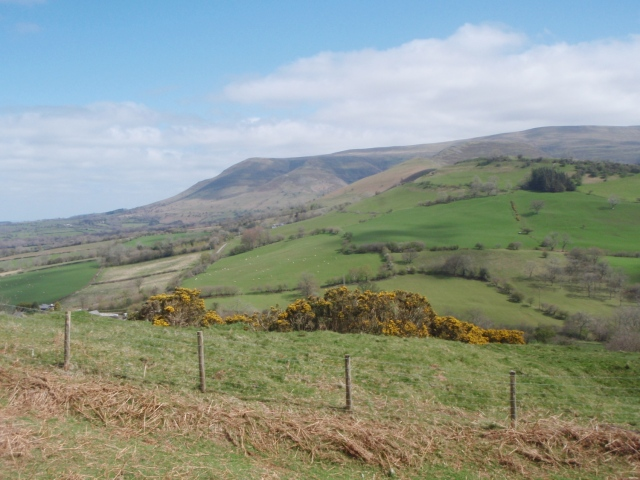The northern edge of Y Mynyddoedd Duon