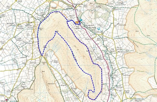 Our Mynydd Troed route