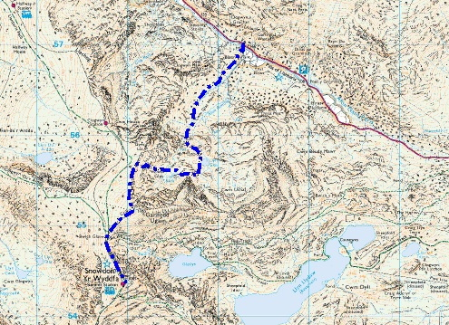 My route up Cwm Glas