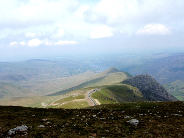 The view to the northwest – the Snowdon Railway and 'civilisation'