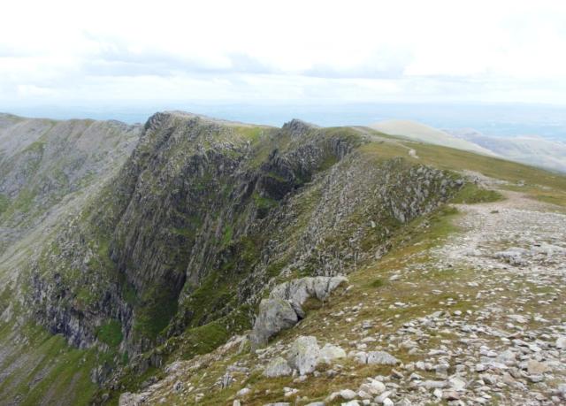 The cliffs of Ysgolion Duon