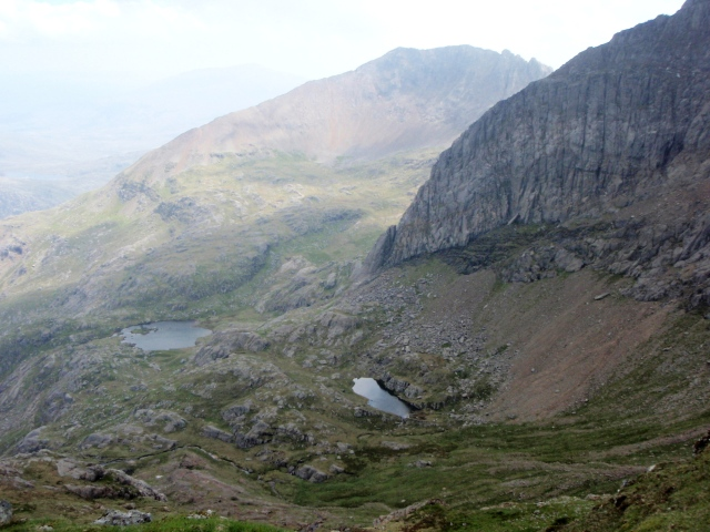 The view back into Cwm Glas – wild and deserted